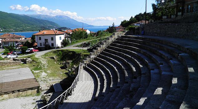 Meer van Ohrid bezienswaardigheden - Theater van Ohrid