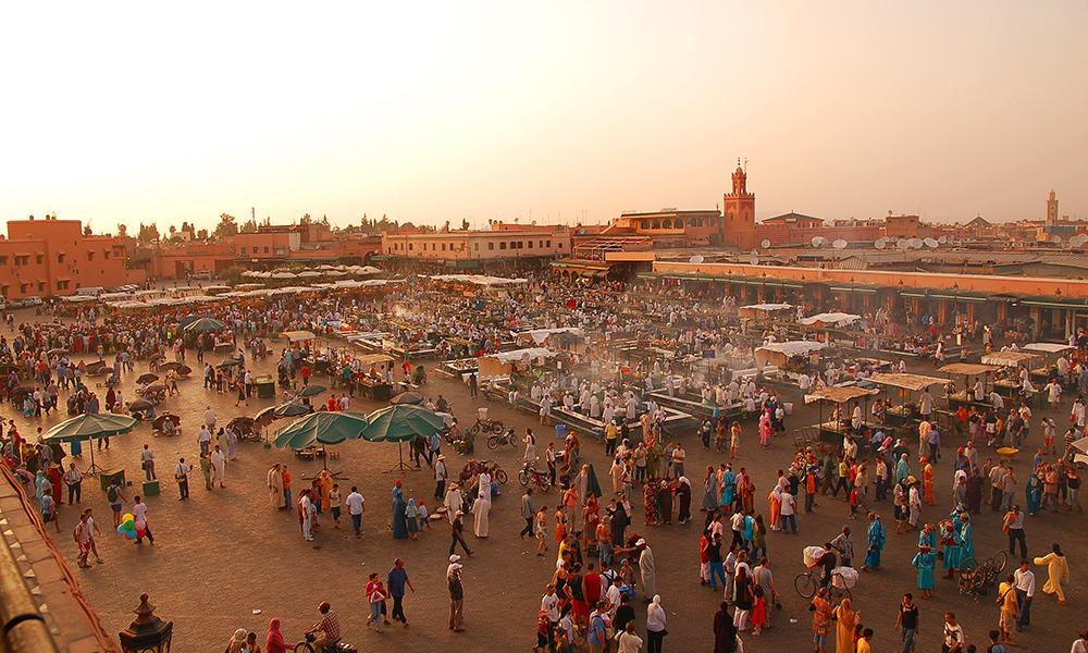 Djemaa el Fna plein in Marrakech