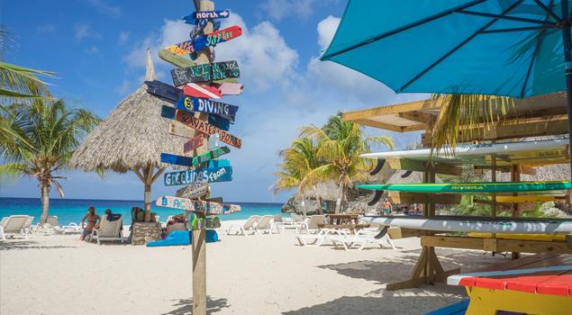 strand op Curacao