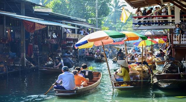Drijvende markt Damnoen Saduak