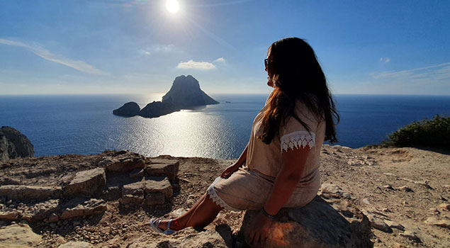Madelon op Ibiza